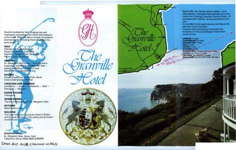 Granville Hotel, Hotel Road: colour leaflet. c1960
