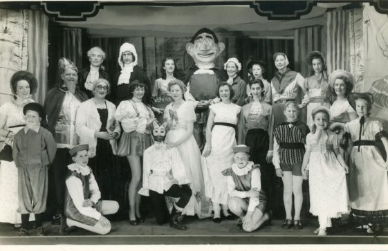 Cast of St Margaret's Players pantomime 'Humpty Dumpty'. 1958