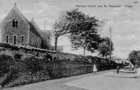 'Norman Church and St. Margaret's Village'. 1910