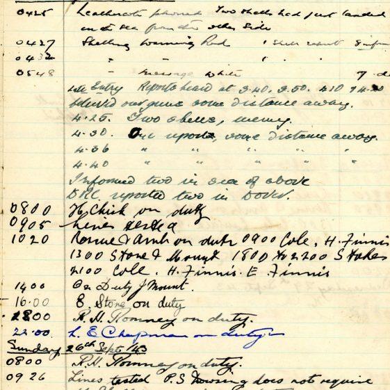 St Margaret's ARP (Air Raid Precautions) Log. Volume 7. 15 February 1943 - 25 October 1943. Pages 117-128