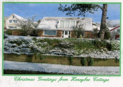 Honeybee Cottage, Granville Road, in Winter