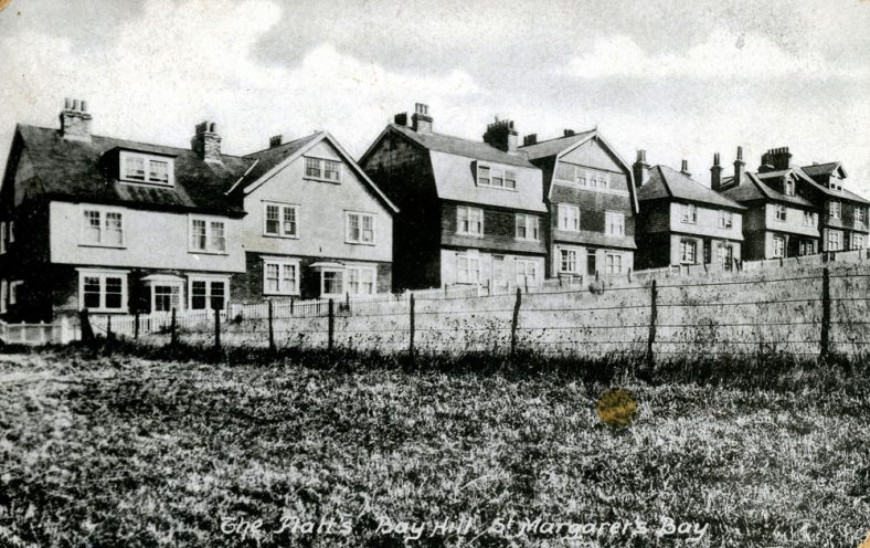 Houses known originally as 'The Flats' at the top of Droveway Gardens. early 20th century