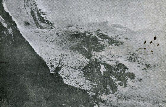 Cliff fall at St Margaret's Bay. postmark 1905