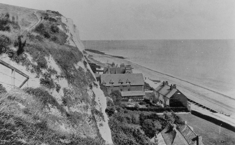 Bay Hotel and old Coastguard Cottages in St Margaret's Bay. Pre WW2