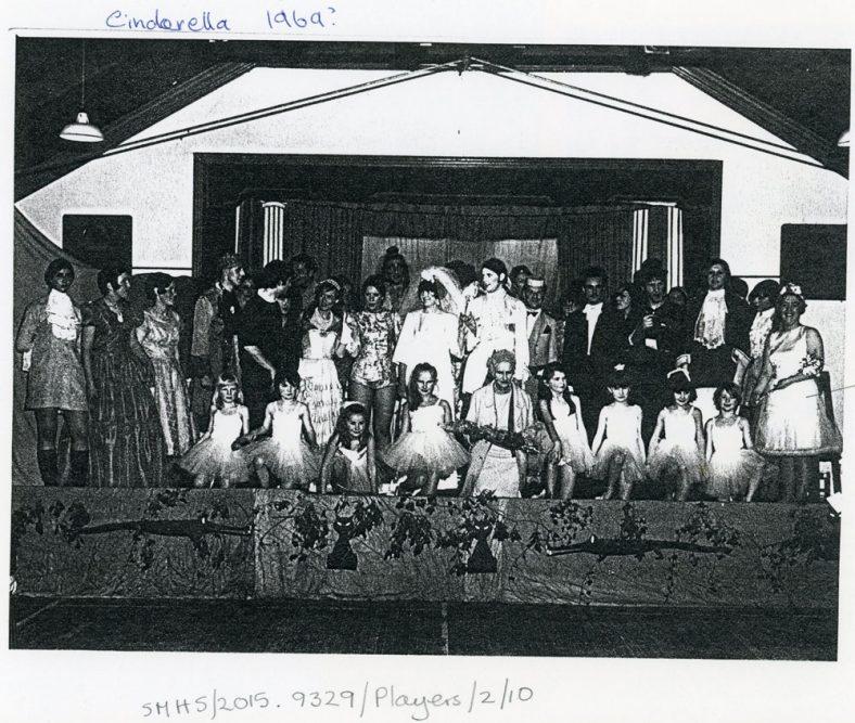 Cast of St Margaret's Players pantomime 'Cinderella'. 1969