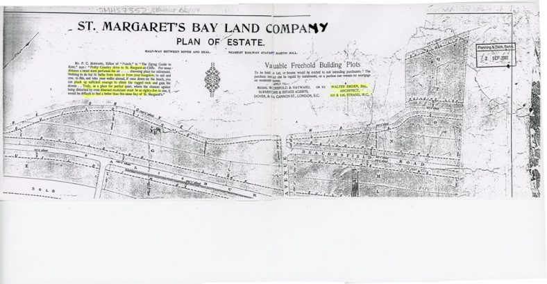 Land at Salisbury Road on sale from the St. Margaret's Bay Land Company,