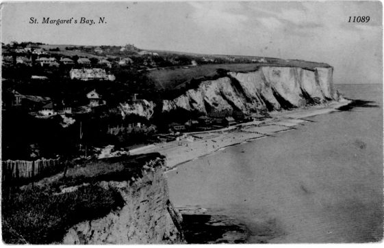 St Margaret's Bay from Ness Point. sent from Portal House. postmark 1927