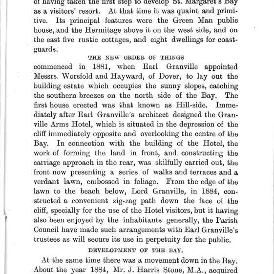 'St Margaret's Visitors Guide' by John Bavington Jones. nd, pages 7 - 14   John Bavington Jones