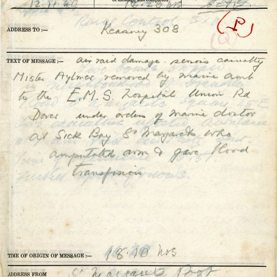 St Margaret's ARP (Air Raid Precautions) Log. Volume 3. 2 November 1940 - 17 February 1941. Pages 9-13