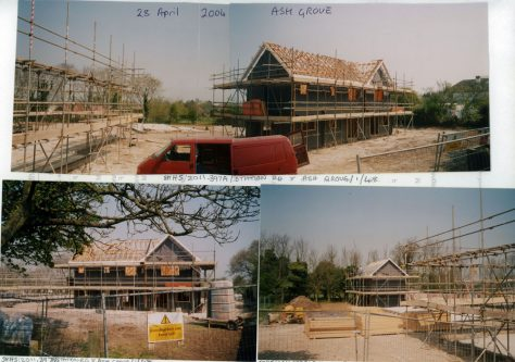Buildings under construction at the Ash Grove site.  2004