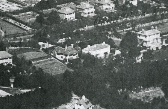 Aerial photograph of Salisbury and Granville Roads and Bay Hill. 1925