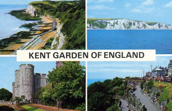 Multiple view postcard of St Margaret's Bay and other Kent views. 20th Century