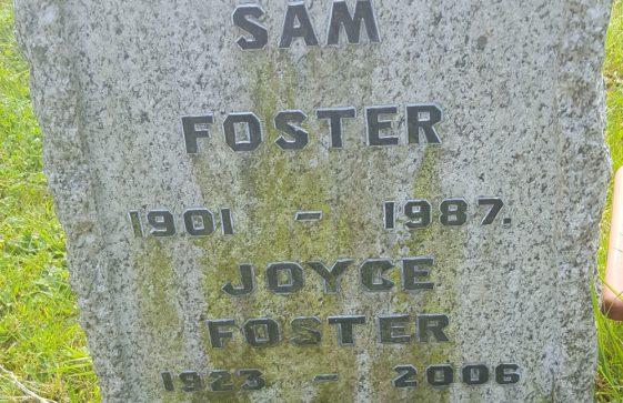 Gravestone of FOSTER Samuel 1987; FOSTER Joyce Jean 2006