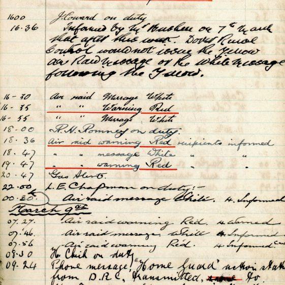 St Margaret's ARP (Air Raid Precautions) Log. Volume 4. 18 February 1941 - 25 September 1941. Pages 18-26