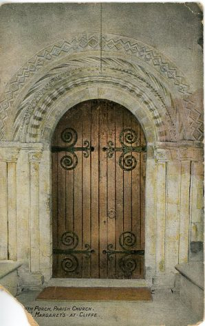 St Margaret's Church North doorway.  Early 20th century