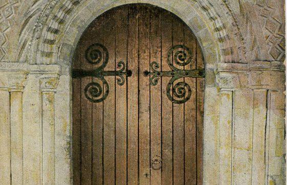 St Margaret's Church North doorway.  Early 20th century