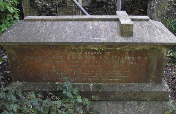 Gravestone of STEVENS Susan Lynds 1901