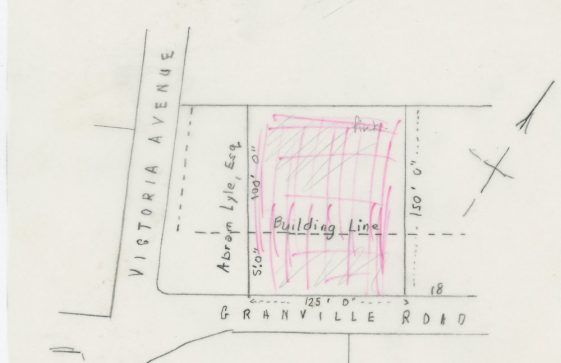 Land Sale on Granville Road to Abram Lyle. 1911