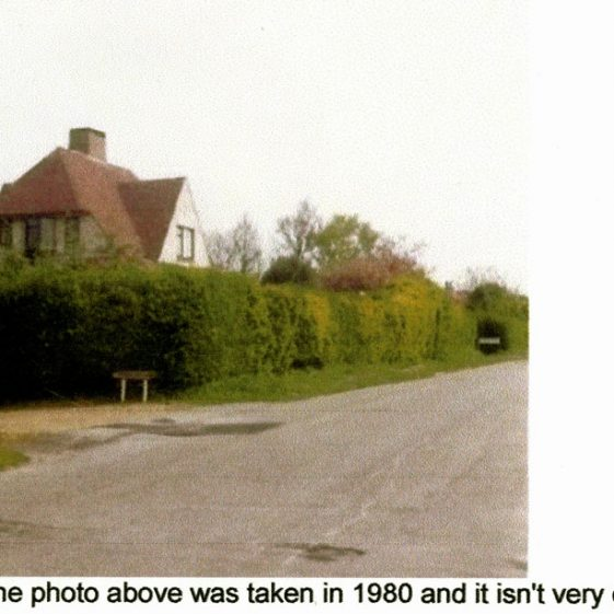 'Uplands', The Droveway, pre & post 1922 when alterations were undertaken.  A third photograph taken in 1980, and a list of occupants from 1927 to 1980