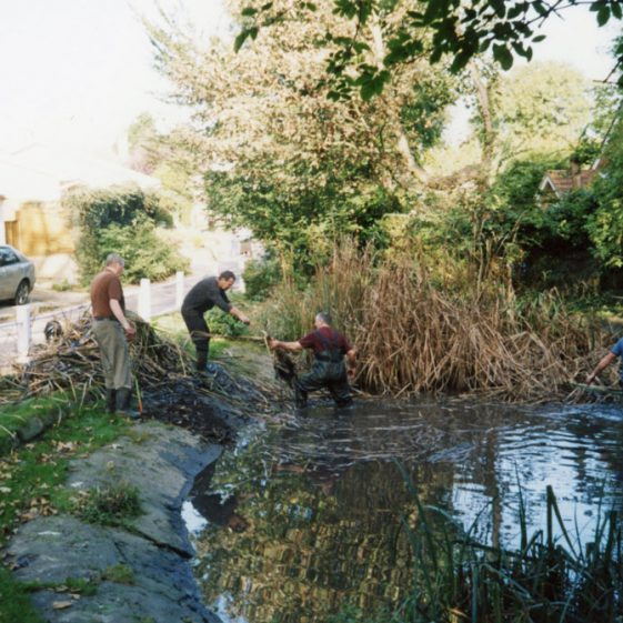 Pond clearance in Chapel Lane. 2007