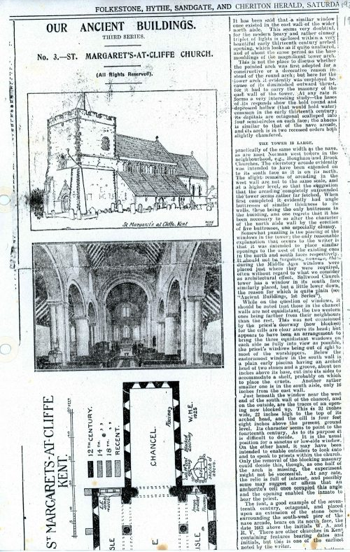 St Margaret's Church from 'Our Ancient Buildings' Series 1925