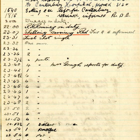 St Margaret's ARP (Air Raid Precautions) Log. Volume 6. 17 July 1942 - 16 February 1943. Pages 77-85