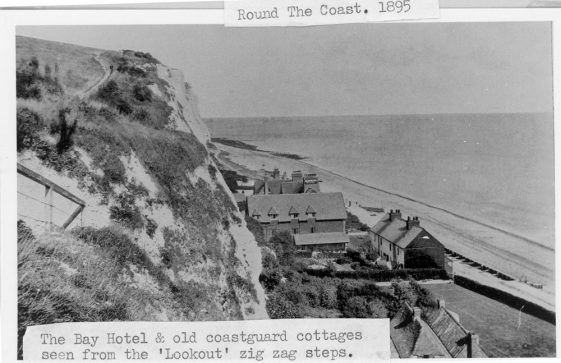 St Margaret's Bay Hotel and old Coastguard Cottages. 1895