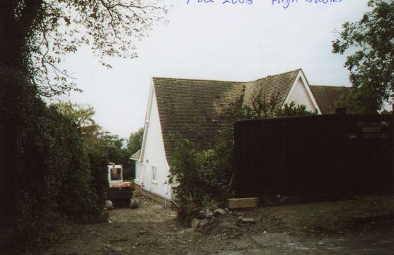 High Gables, Granville Road, construction of a new drive.  2003
