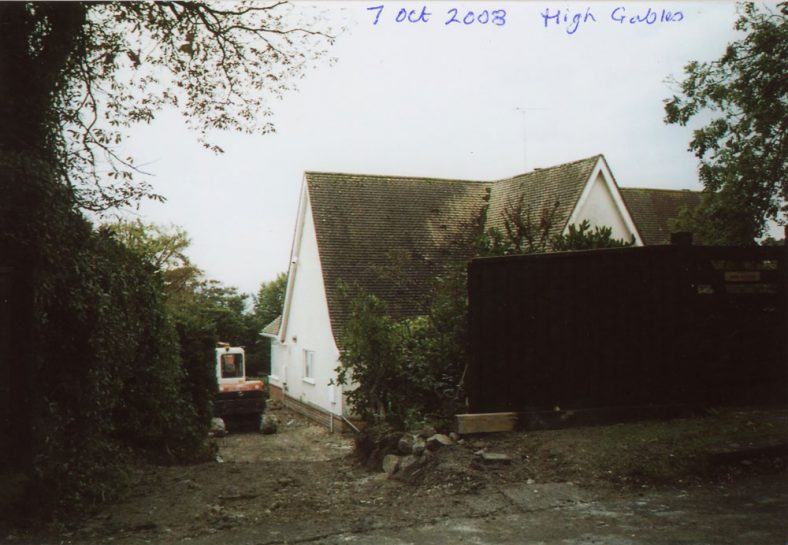 'High Gables', Granville Road, construction of a new drive.  2003