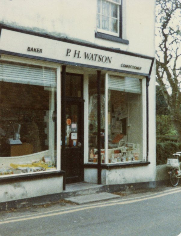 Watson's Baker's shop entrance, Kingsdown Road. 1984