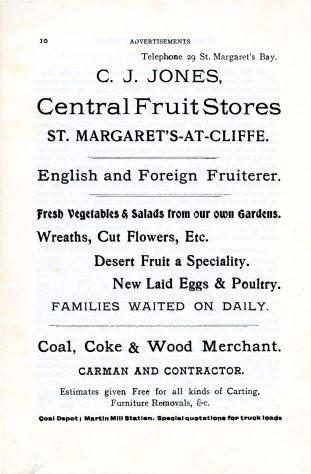 'St Margaret's Visitors Guide' by John Bavington Jones. 1907, pages 10 - 20