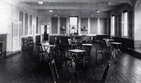Portal House, billiard room.  c1920
