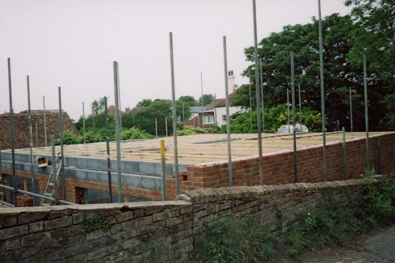 Dudritch Cottages, Well Lane building works. 2011