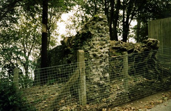 Remains of the Napoleonic wall, Bay Hill. 2007