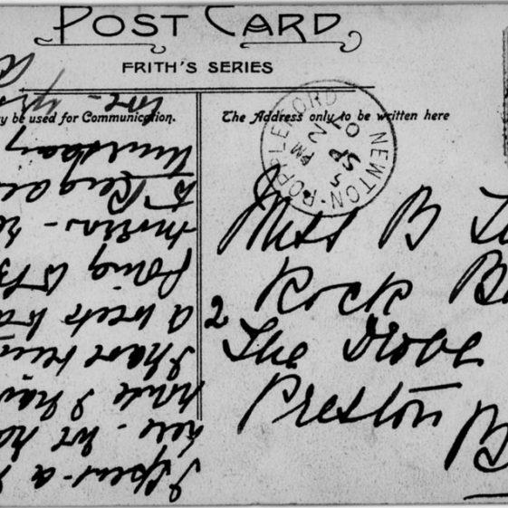 St Margaret's Bay from Ness Point. postmark 1907