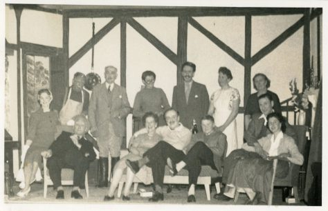 Scenes from St Margaret's Players Production 'Queen Elizabeth Slept Here' 1958
