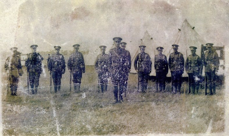 Soldiers on parade at Swingate camp. 25 July 1927