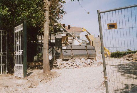 Corner Cottage, Granville Road, new garage. July 2008