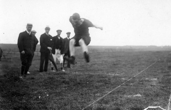 Men's Long jump at St Margaret's Sports Day. 25th August 1910