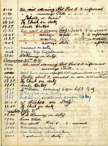 St Margaret's ARP (Air Raid Precautions) Log. Volume 4. 18 February 1941 - 25 September 1941. Pages 117-125