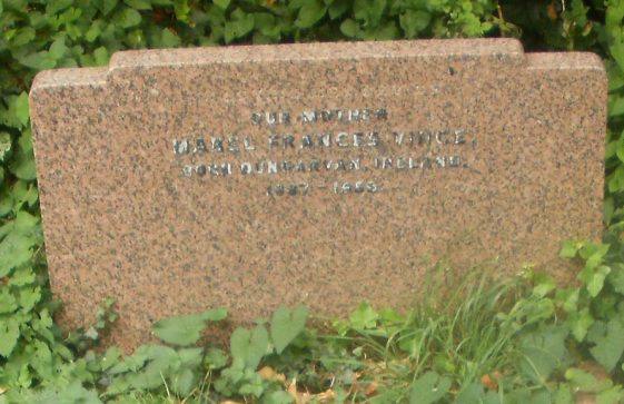 Gravestone of VINCE Mabel Frances 1959