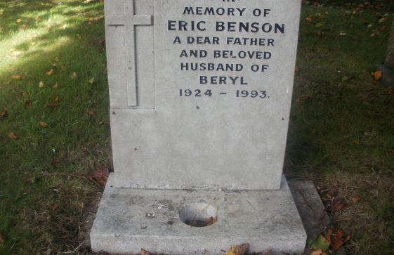 Gravestone of BENSON Eric 1993
