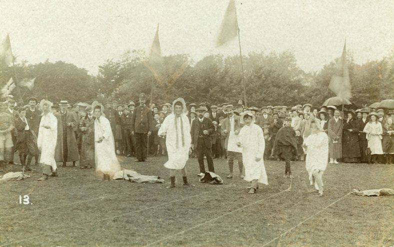 Costume race at St Margaret's Sports Day. 1909