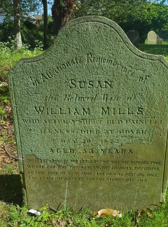Gravestone of MILLS Susan 1872 | Dawn Sedgwick