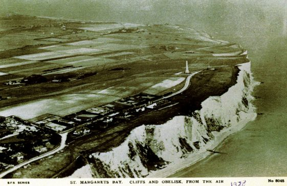 Aerial view of Leathercote Point and Dover Patrol Memorial. 1928