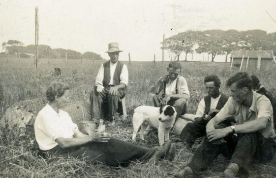 Harvesting at Bockhill Farm with Annie Sharpe and Bobbie Melhuish