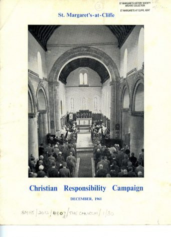 Christian Responsibility leaflet by St Margaret's Church. December 1961.