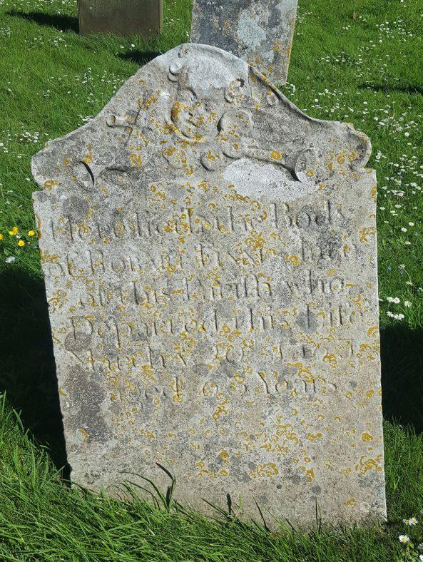 Gravestone of FINNIS Robart 1761   Dawn Sedgwick