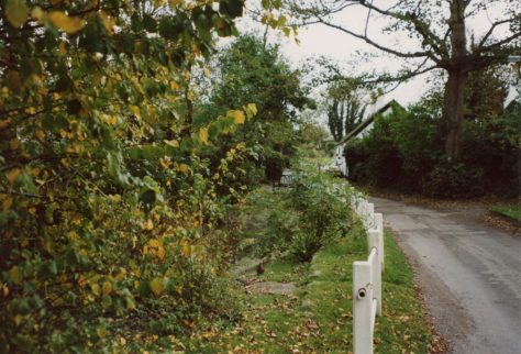 Autumn in Chapel Lane, St Margaret's at Cliffe. 2004