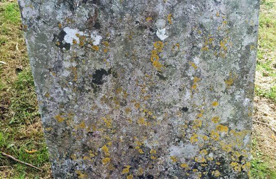 Gravestone of MILLER Mary 1770; MILLER John 1785